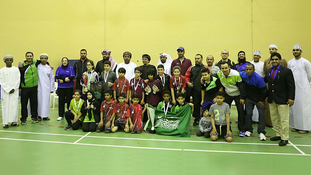 Players, coaches and officials in Muscat (Photo: courtesy of Mohamed Atoum)