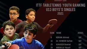 """تقدم كبير لأبطالنا في التصنيف الشهري للاتحاد الدولي  """"ITTF"""""""