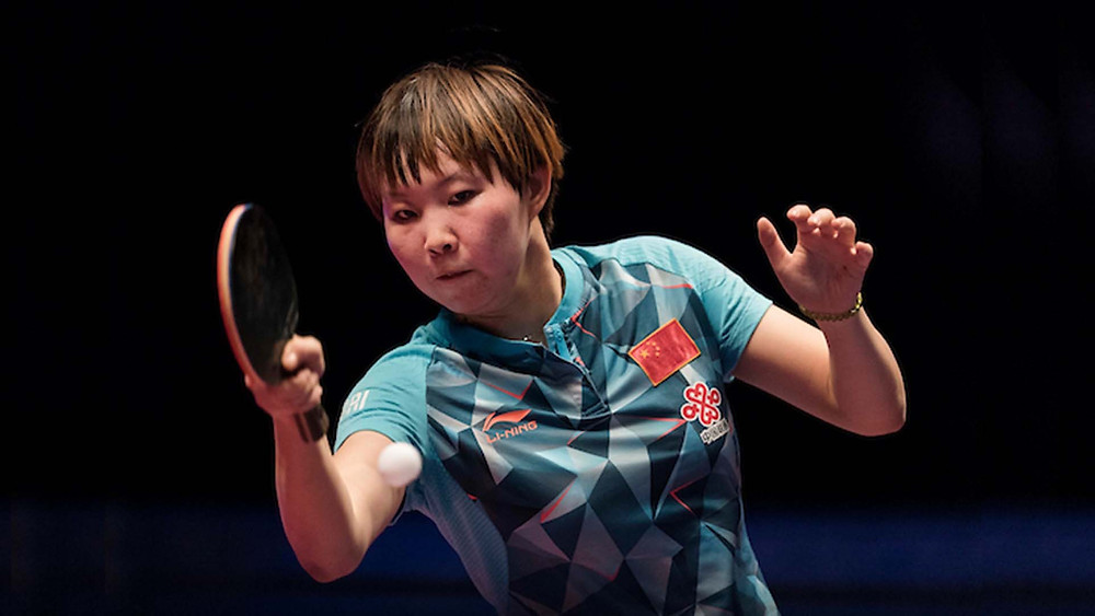 Zhu Yuling in action at recent Seamaster Qatar 2016 ITTF World Tour Grand Finals (Photo by Victor Fraile / Power Sport Images)