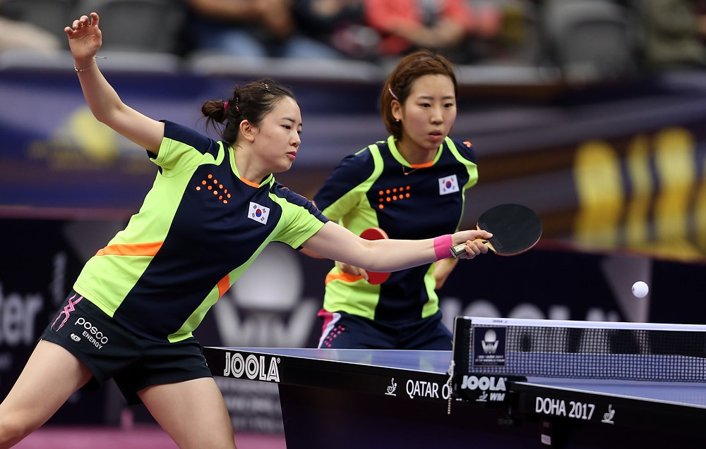 Jeon Jihee and Yang Haeun (both pictured) will take on Chen Meng and Wang Manyu for the Women's Doubles crown (Photo: Hussein Sayed)