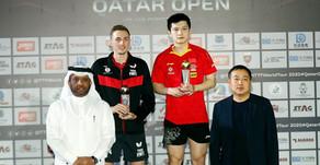 """البطل الصيني #فان_زيندونج"""" يتربع على عرش بطولة قطر الدولية بالفوز بلقب فردي الرجال للمرة الثالثة"""