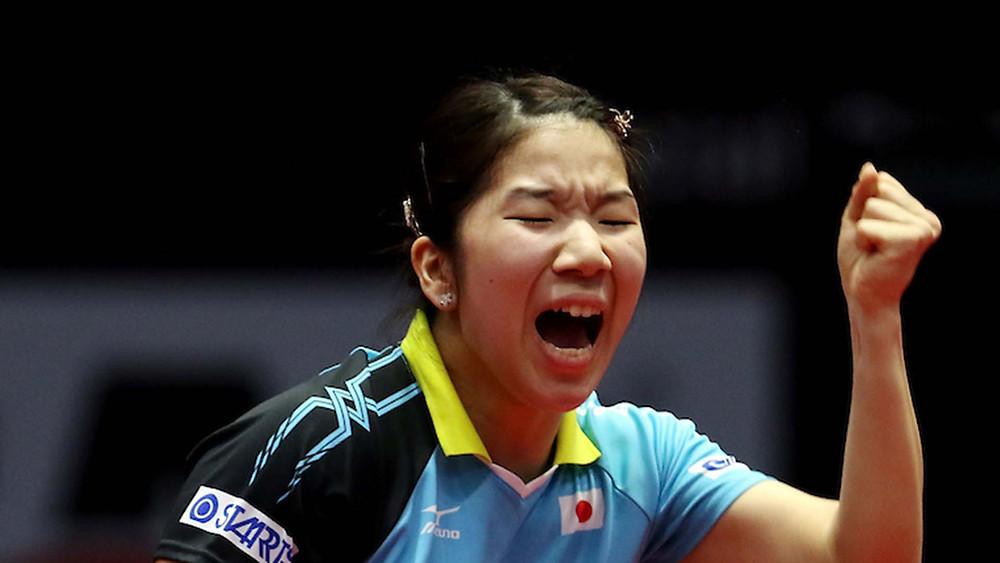 Sakura Mori in full cry (Photo by: Vipin Pawar / SPORTZPICS)