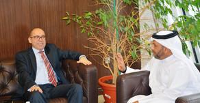 """السفير التونسي بالدوحة صلاح الصالحي في زيارة لإتحاد الطاولة  ندعم المهندي بقوة لرئاسة ال """"ITTF&"""