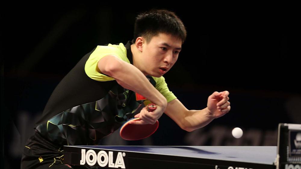 Fang Bo who beat Liang Jingkun (Photo: Hussein Sayed)