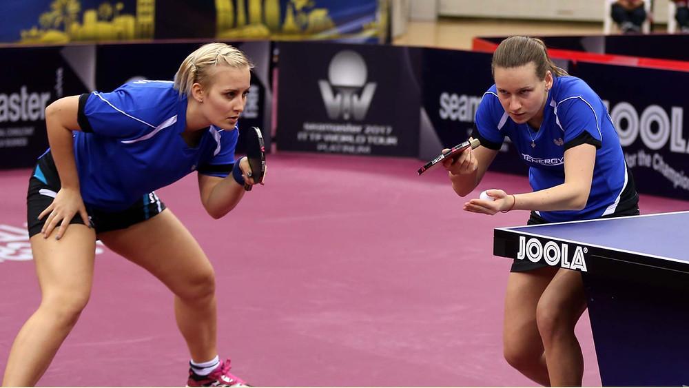 Barbora Balazova (left) and (right) Hana Matelova totally focused in Doha (Photo: Hussein Sayed)