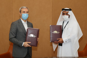 The Iran Table Tennis Federation president Mehrdad Alighardashi signed a MoU with Qatar Table Tennis