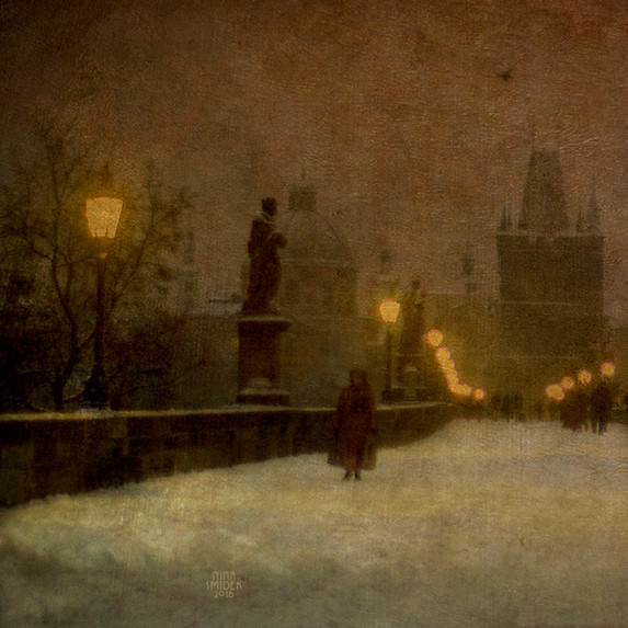 Le crépuscule sur le pont