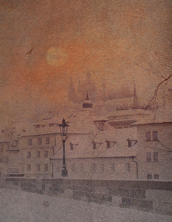 Západ nad Pražským hradem