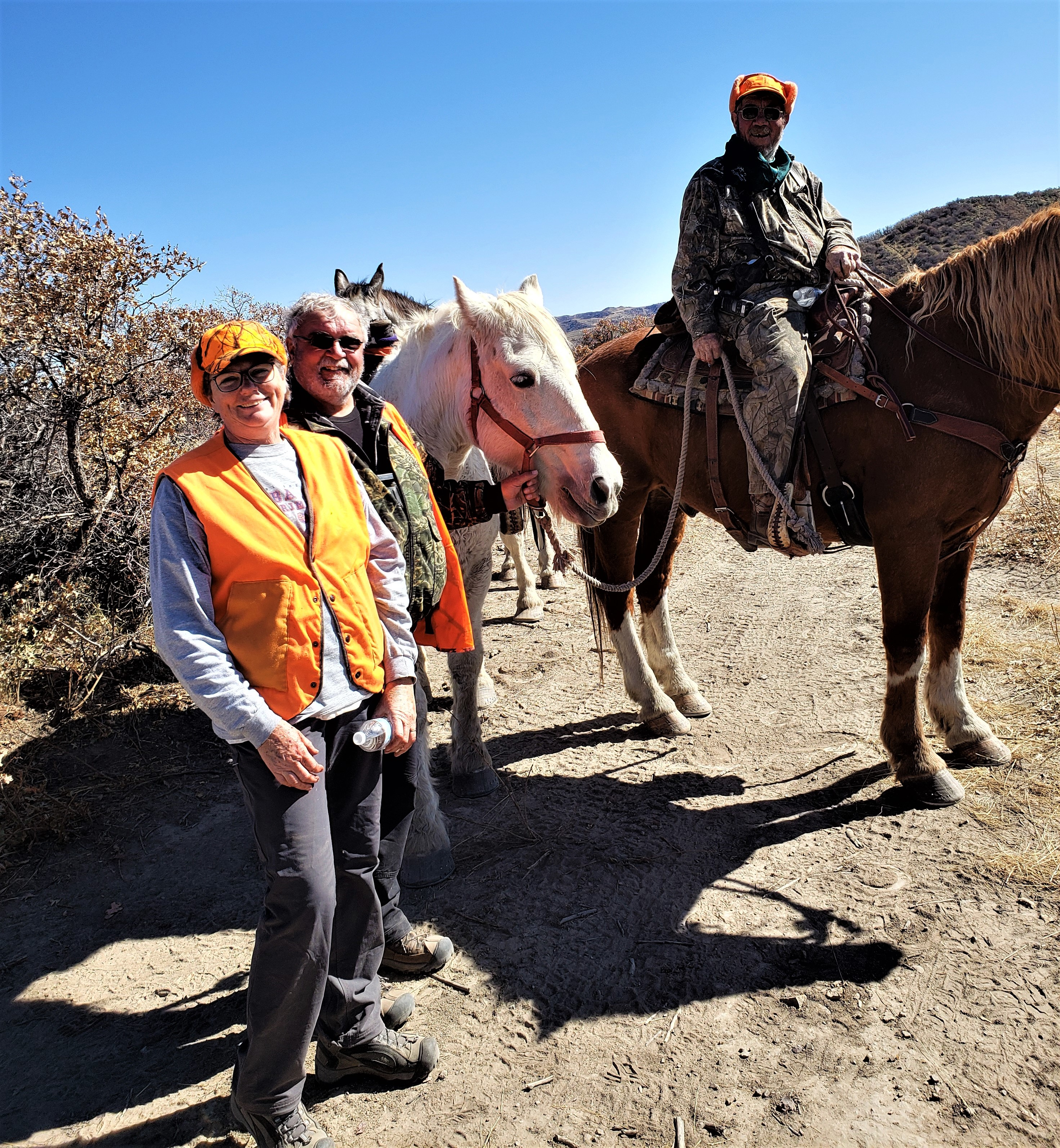 Ron & Helen with horses
