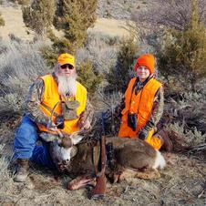 Dave with grandson - 4th rifle season buck