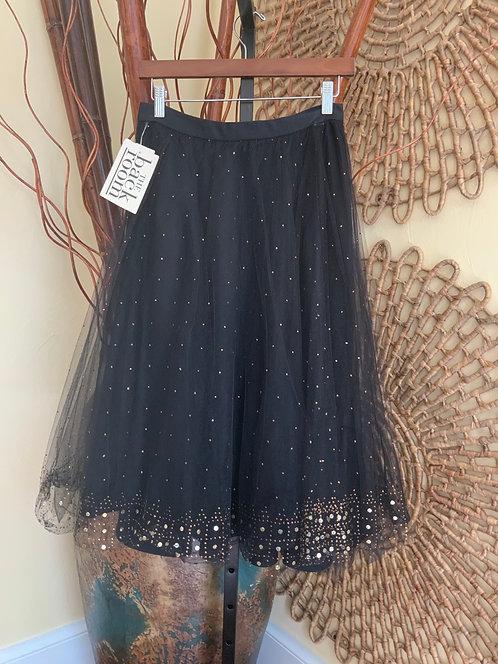 DKNY, DONNA KARAN NY - Black Sequin & Stud Skirt, Size 8, NWT