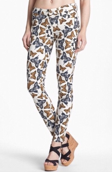 PAIGE - Butterfly Jeans, Size 26, NWT
