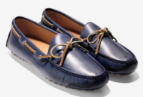 COLE HAAN - Blue Leather Loafer, Size 9.5, NIB