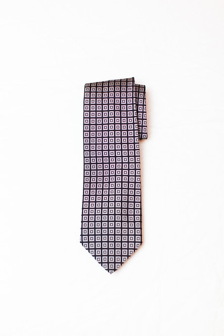 BROOKS BROTHERS - Silk Neck Tie, Black/White Squares