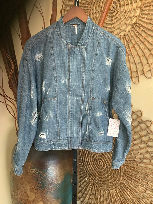 FREE PEOPLE Denim Jacket - Size S, NWT