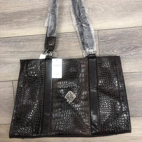COLDWATER CREEK - Croc LapTop Bag, NWT
