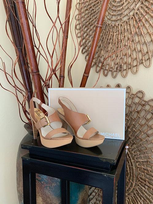 MICHAEL KORS - Tan Heels, Size 8, BRAND NEW