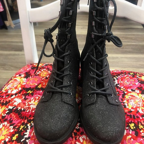 GUESS - Glitter Combat Boots, Size 9