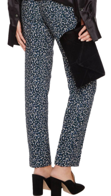 TORY BURCH - Navy Confetti Trousers, Size 8, NWT