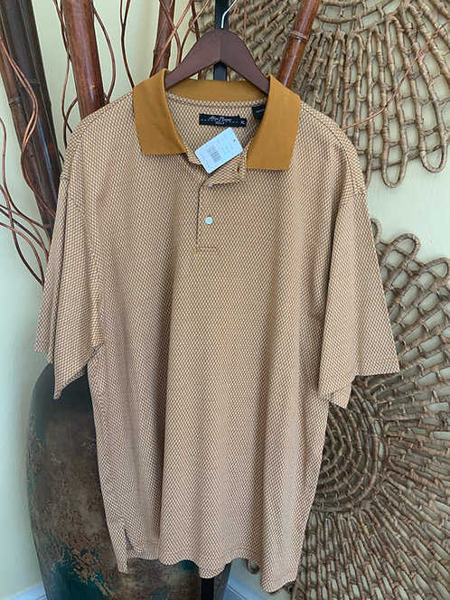 ALAN FLUSSER - Bronze Golf Polo, Size XL, NWT
