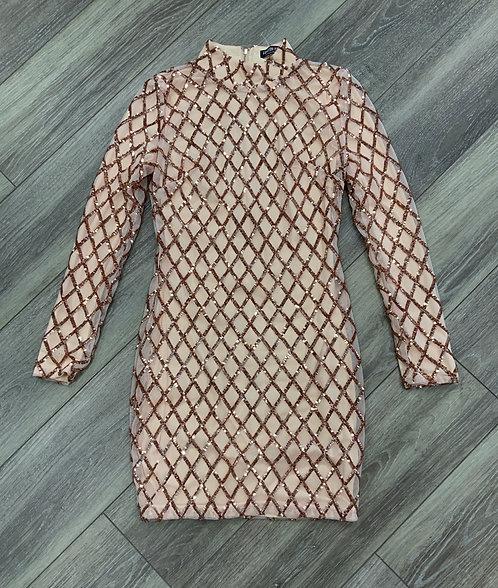 FASHION NOVA - Sequin Party Dress, Size S
