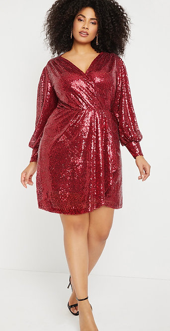 ELOQUII - Red Sequin Party Dress, Size 20