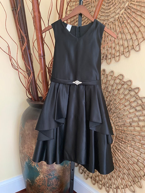 JULIA LEE - Black Dress w/Rhinestones, Size 14