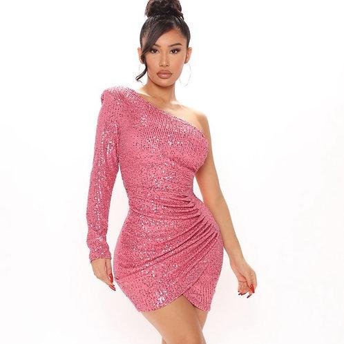 FASHION NOVA - Sequin Party Dress, Size L, NWT