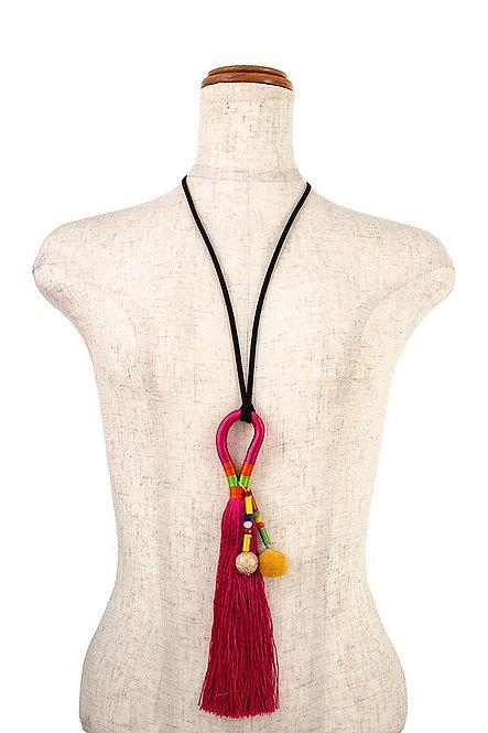 Long Tassel Fringe Necklace
