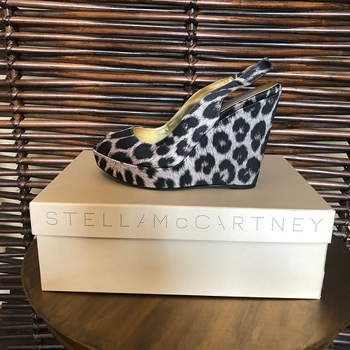 STELLA McCARTNEY - Leopard Wedge, Size 39