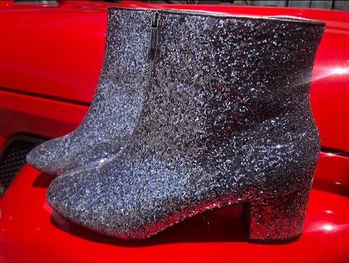 CAPE ROBBIN - Glitter Ankle Bootie, Size 8
