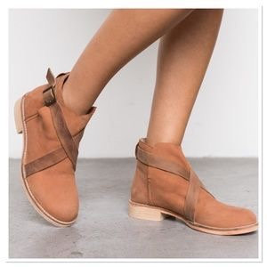 FREE PEOPLE - Suede Ankle Bootie, BRAND NEW