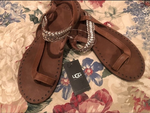 UGG - Leather Sandals, Size 8, NWT