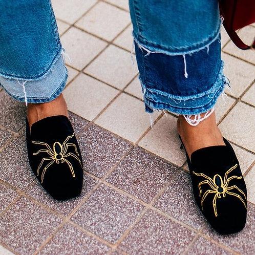ZARA - Spider Embroidered Mules, Size 41EU