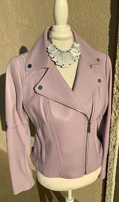 MICHAEL KORS - Lavender Leather Jacket, Size M