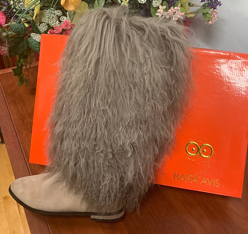 RARA AVIS - Mongolian Fur Boots, Size 7.5, NIB