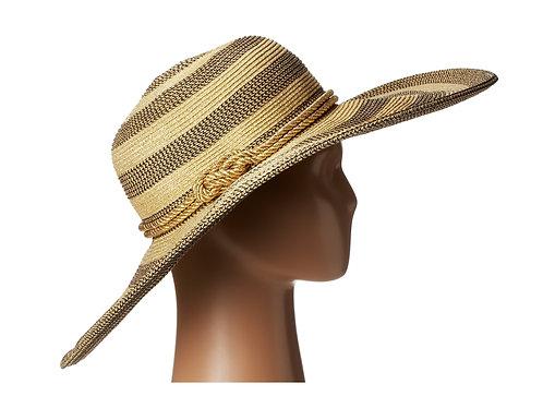 SAN DIEGO HAT COMPANY - Nat/Blk Floppy Hat, NWT
