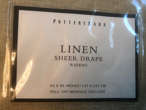 POTTERY BARN - Linen Drapes, SET/2, NWT