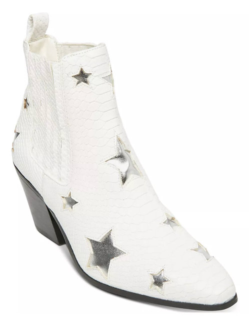 BETSEY JOHNSON Stars Ankle Bootie, Size 9 NEW