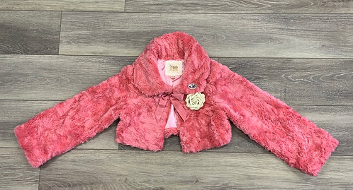 CHILDREN'S PLACE - Faux Fur Jacket, L (10/12)