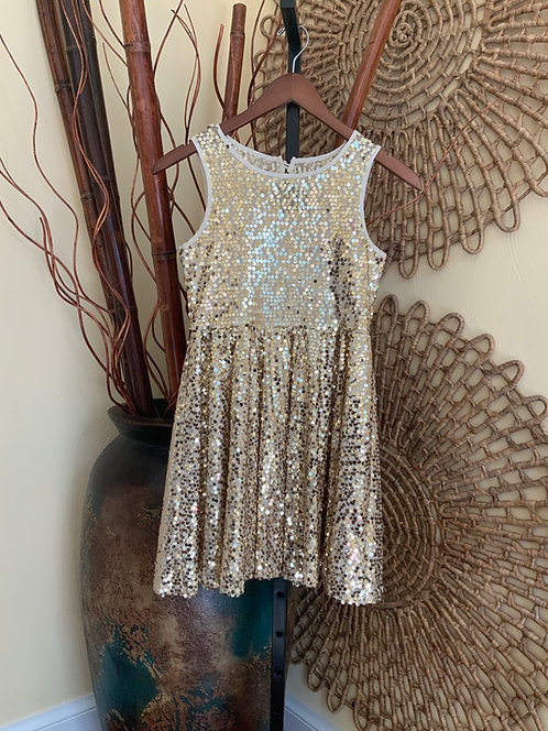 GIANNI BINI - Gold Sequin Dress, Size 12
