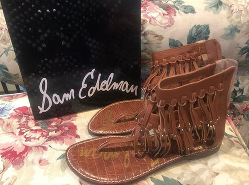 SAM EDELMAN - Fringe Gladiator Sandal, Size 8.5, NIB