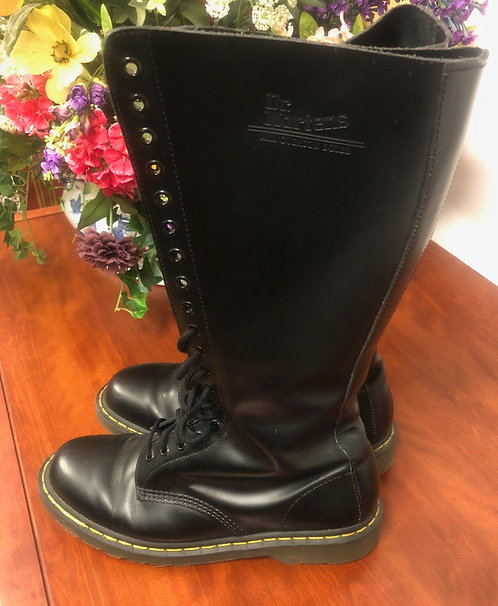 DR. MARTENS - Black Tall Boots, Size 11