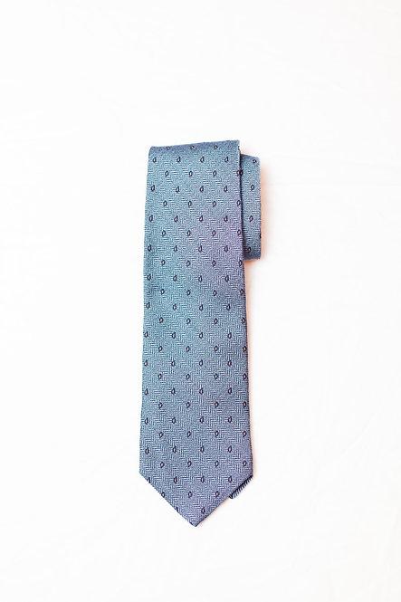 BROOKS BROTHERS - Silk Neck Tie, Navy w/Small Paisley NWT