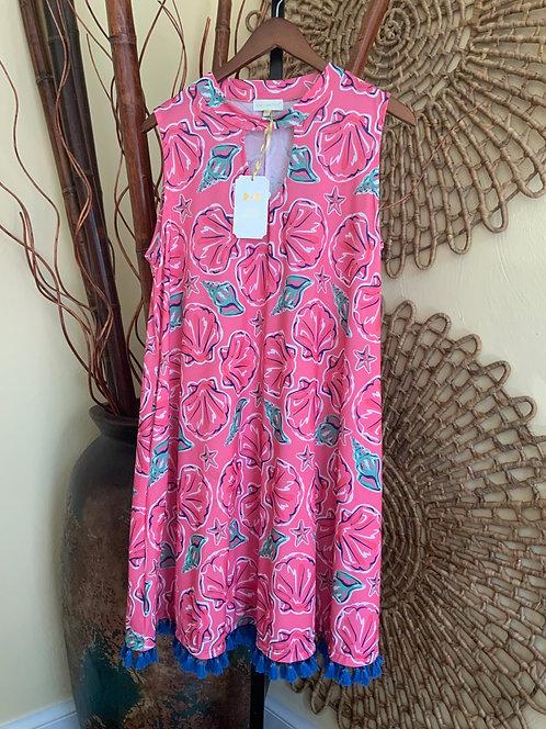SIMPLY SOUTHERN - Pink Dress w/Tassel Fringe, Size XL, NWT