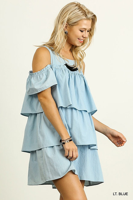 Layered Denim Dress