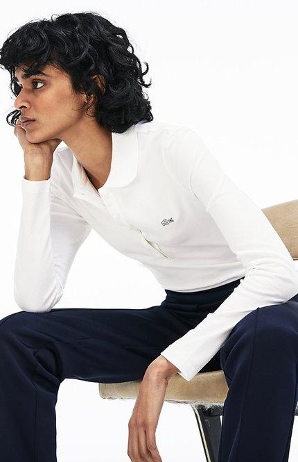 LACOSTE - White Polo, Size 38, NWT