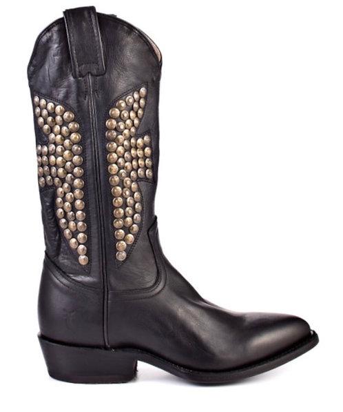 FRYE BOOTS - Black Cowboy Boot, Size 9, BRAND NEW w/BOX