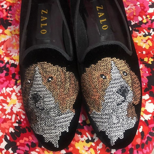ZALO - Embroidered Loafers, Size 8.5N