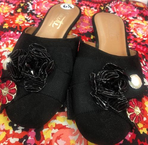 NANETTE LEPORE Embellished Mule, Size 6.5